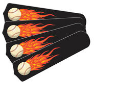 """New HOT FLAMES BASEBALL SPORTS 42"""" Ceiling Fan BLADES ONLY"""