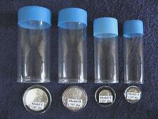 4 Sizes Cap-Tube -Tite-2 Airtite Coin Holders Half Dollar Silver Eagle Bullion.