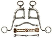 Showman Stainless Steel Walking Horse Bit w/ 4 Interchangeable Mouth Pieces! NEW