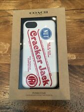 Coach x Cracker Jack Leather iPhone 8 Case Fits iPhone 7 and 6s - F27331 NWT