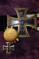 Original ORDENSSPANGE Eisernes Kreuz 1914 + Ungarische Österr. Medaille, 5 Teile