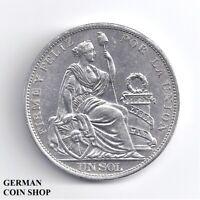 Peru Un Sol 1915 Silber - silver 1 sol - plata