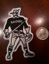 "Oakland Raiders Vintage Iron on Embroidered    Patch 4"" x 2"" High QUALITY"