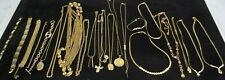 Job Lot Of Gold Tone Fashion Costume Jewellery Necklaces Bracelets Pendants x 23