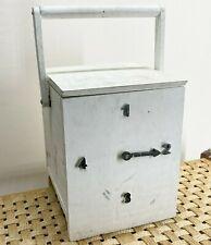 More details for vintage wooden milk bottle storage box - with bottle request number  <d100 h2