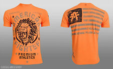 American Fighter by Affliction Columbia Tee Shirt Orange Medium
