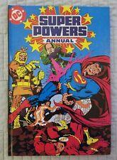 SUPER POWERS ANNUAL, SUPERMAN, FLASH, HARDCOVER, HC, DC COMICS, 1984