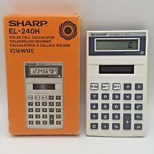 Sharp EL-240H Solar Cell Calculator Vintage Boxed Made In Japan