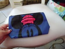 Blue and black Mickey Mouse Disney cosmetic bag Nwt
