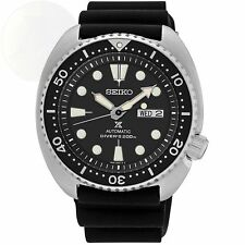Seiko Men's Prospex Automatic Diver Black Dial Silicone Strap Watch SRP777