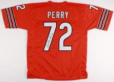 William Perry Signed Orange Chicago Bears Jersey (JSA) 1985 Super Bowl Shuffler