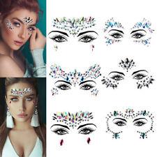 6 Face jewels sticker Make Up Adhesive Temporary Tattoo Body Art Gems Rhinestone