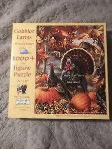 Turkey Gobbler Farms Dona Gelsinger Artwork 1000 Piece Jigsaw Puzzle SunsOut Art
