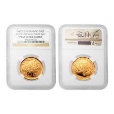 San Marino 2005 International Peace day 50 Euro Gold Ngc Pf69 Ultra Cameo