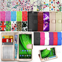 For Motorola Moto G6 Play -Wallet Leather Case Flip Cover Book + Screen Guard