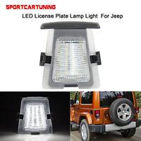 LED Number License Plate Light Lamp For For Jeep Wrangler JK 07-18 Rear Bumper