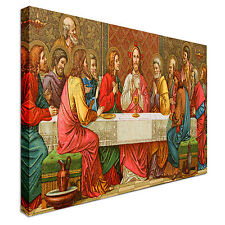 Last Supper Of Christ 40x20inches Canvas Wall Art Picture Print