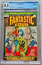 Fantastic Four #124 CGC graded 4.5 VG+ July 1972 20 cent Bronze Age Marvel comic