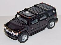"5"" New Kinsmart 2008 Hummer H2 SUV 1:40 Diecast Toy Car Model Pull Action Black"