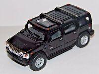 "5"" New Kinsmart 2008 Hummer H2 SUV 1:40 Diecast Toy Car Model Pull Action Black"