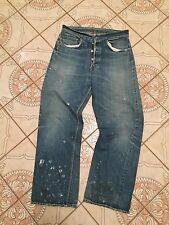 Double X Vtg Leather patch Hidden Rivets Big E Levis 501 Xx 501s Jeans usa 29 27