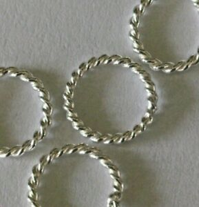 7 mm 925 STERLING SILVER TWISTED CLOSED JUMP RING FOR JEWELLERY MAKING 8-5