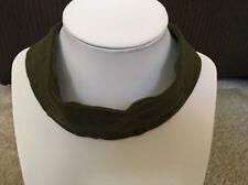 ASOS Wide Jersey choker Necklace Khaki Color