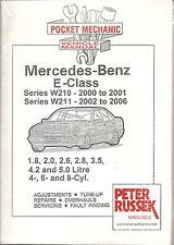 MERCEDES BENZ E CLASS PETROL MODELS W210 W211 CAR MANUAL