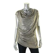Calvin Klein Womens Ladies Girls Gold Sleeveless Top T Shirt Size - Medium