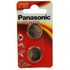 2x CR2025 Lithium-Batterie 3,0 Volt 165mAh ø20x2,5mm 3V Blisterpack Panasonic