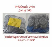 "500 Pieces Radial Repair Round Tire Patch Medium 2.1/4"" - 57 MM Superior Quality"