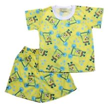 Sponge Bob Barbel Shirt & Short Set Boys Baby/Toddler Sleepwear, S (3-4 y/o)