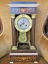 très belle pendule portique époque Charles X fonctionne à réviser horloge morel