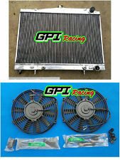 Aluminum radiator + FAN for Nissan R33 Nissian Skyline R34 GTT rb25det rb25de