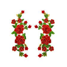 1 Pair 3D Flowers Embroidery Neckline Lace Collar For Dress Clothes Applique DIY