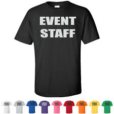 Event Staff Official Party Tees Costume Novelty Funny Youth Kids T Shirts