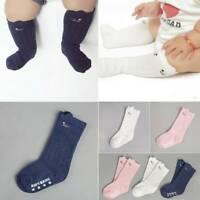Baby Kids Toddlers Girls Knee High Socks Tights Leg Warmer Stockings Age 0-4 Y