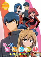 TORADORA! Complete Series 1-25 end + Ova + Special English Dubbed Ship From USA