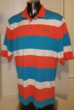 Sean John Mens Size 2XL Polo Shirt Short Sleeve Cotton Blend Multicolor Striped
