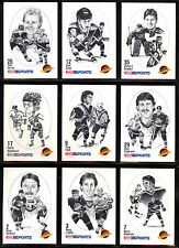 1986-87 KRAFT DRAWINGS VANCOUVER CANUCKS 10 CARD TEAM SET KING BRODEUR STAN SMYL