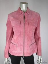 TAIFUN Jacket 40 10 M Pink Suede Zip Front Collar Zipper Pocket Coat Medium $565