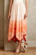 NWT New Anthropologie skirt orange size XS Petite by Floreat