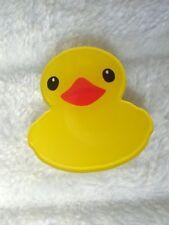 Broche canard jaune rubber duck original plastique acrylique