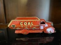 NICE MARX Coke Coal Pressed Steel/Tin Toy Dump Truck RED.  10068