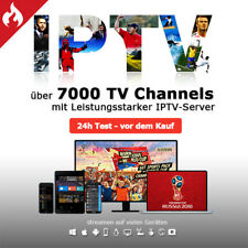 12 Monate IPTV Premium +7000 Channels/VOD für Smart IPTV MAG KODI M3U ANDROID