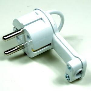 4 Schuko - Winkelstecker Schukostecker  230V /16A Flachstecker extra flach weiß