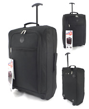 New Cabin Approved Hand Luggage Wheeled Carry on Flight Holdall Suitcase Bag Uk
