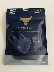 Under Armour Adult Project Rock Sport Face Mask NAVY L/XL NEW Fast Shipping