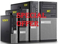 Dell Optiplex 790 3010 SFF USFF DT Desktop Business PC i7 i5 i3 SSD HDD Win 10