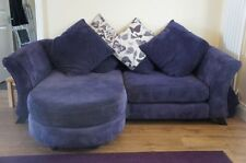Two Seater Sofa Living Room Fabric Textured Furniture Suites